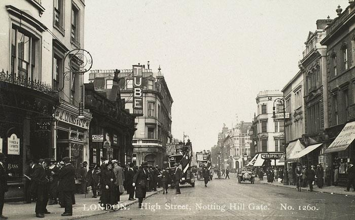 Notting Hill Gate in 1920s